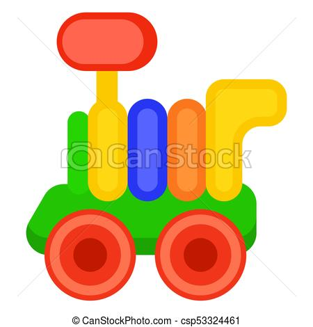 450x470 Colorful Toy Train Wagon Isolated Illustration. Colorful Toy