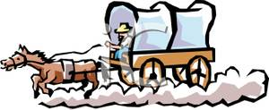 300x123 Covered Wagon Wheel Clipart