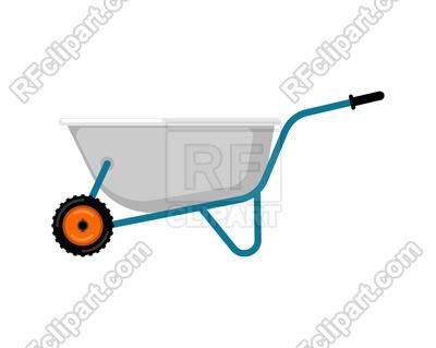 400x319 Wheelbarrow Garden Isolated Royalty Free Vector Clip Art Image