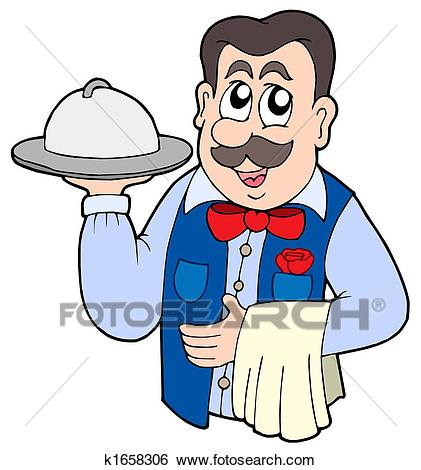421x470 Pendent Clipart Waiter
