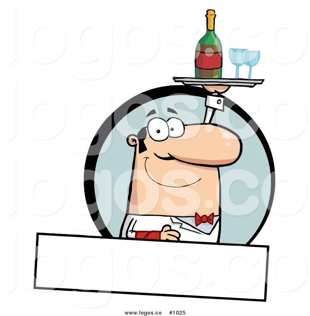 1024x1044 Royalty Free Waiter Serving Wine 2 Vector Logo By Hit Toon