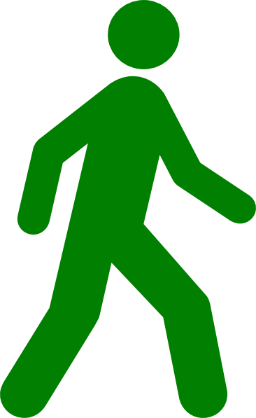 366x597 Walking Man Green Clip Art