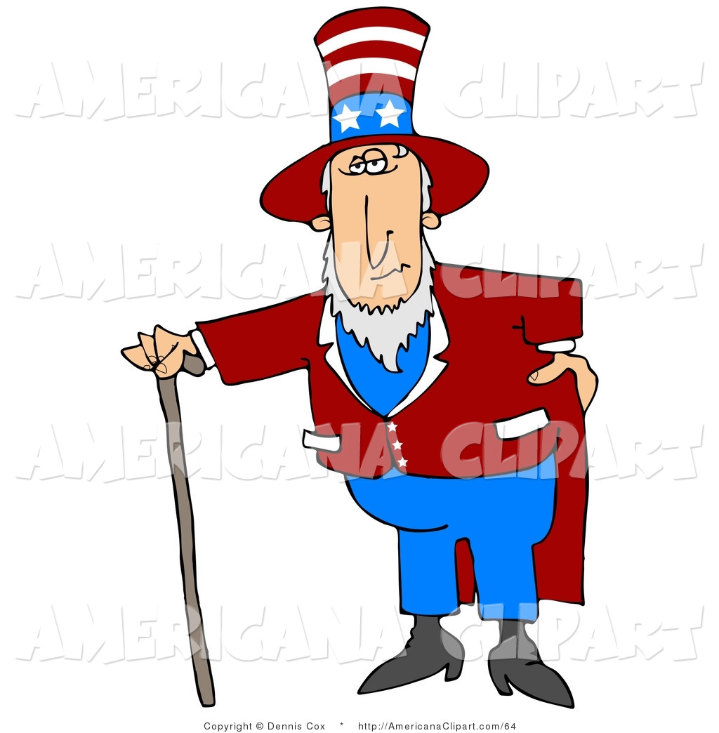 1024x1044 Americana Clip Art Of A Patriotic Uncle Sam In A Red And White