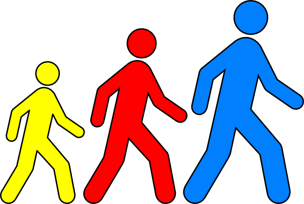 600x402 Walking Clipart Walking Man Colors 1 Clip Art
