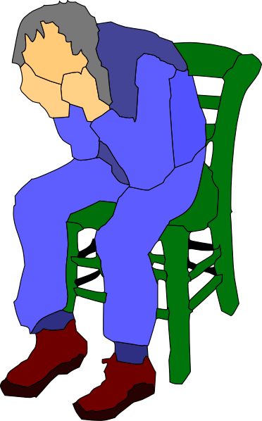 372x598 Man Sitting On A Chair Clip Art Free Vector 4vector