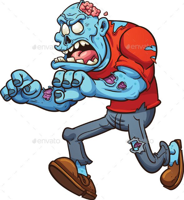 590x639 Running Zombie Running, Art Illustrations And Cartoon