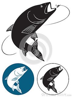 236x318 Fish Eating Insect Clip Art