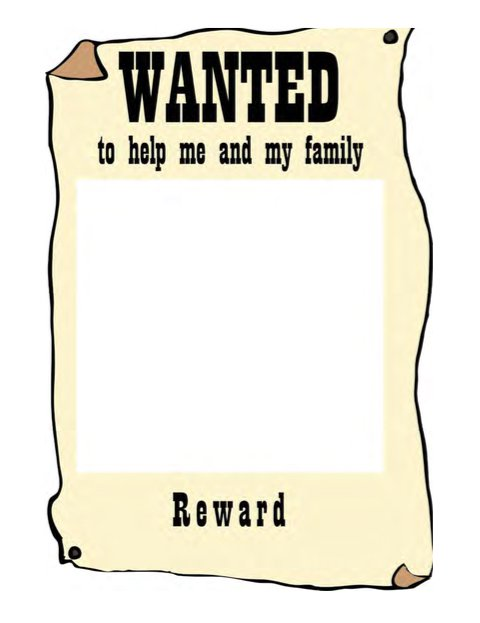 480x623 Clipart Wanted Sign