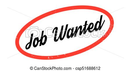 450x246 Job Wanted Rubber Stamp. Grunge Design With Dust Scratches