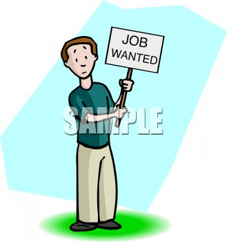 329x350 Man Holding A Job Wanted Sign