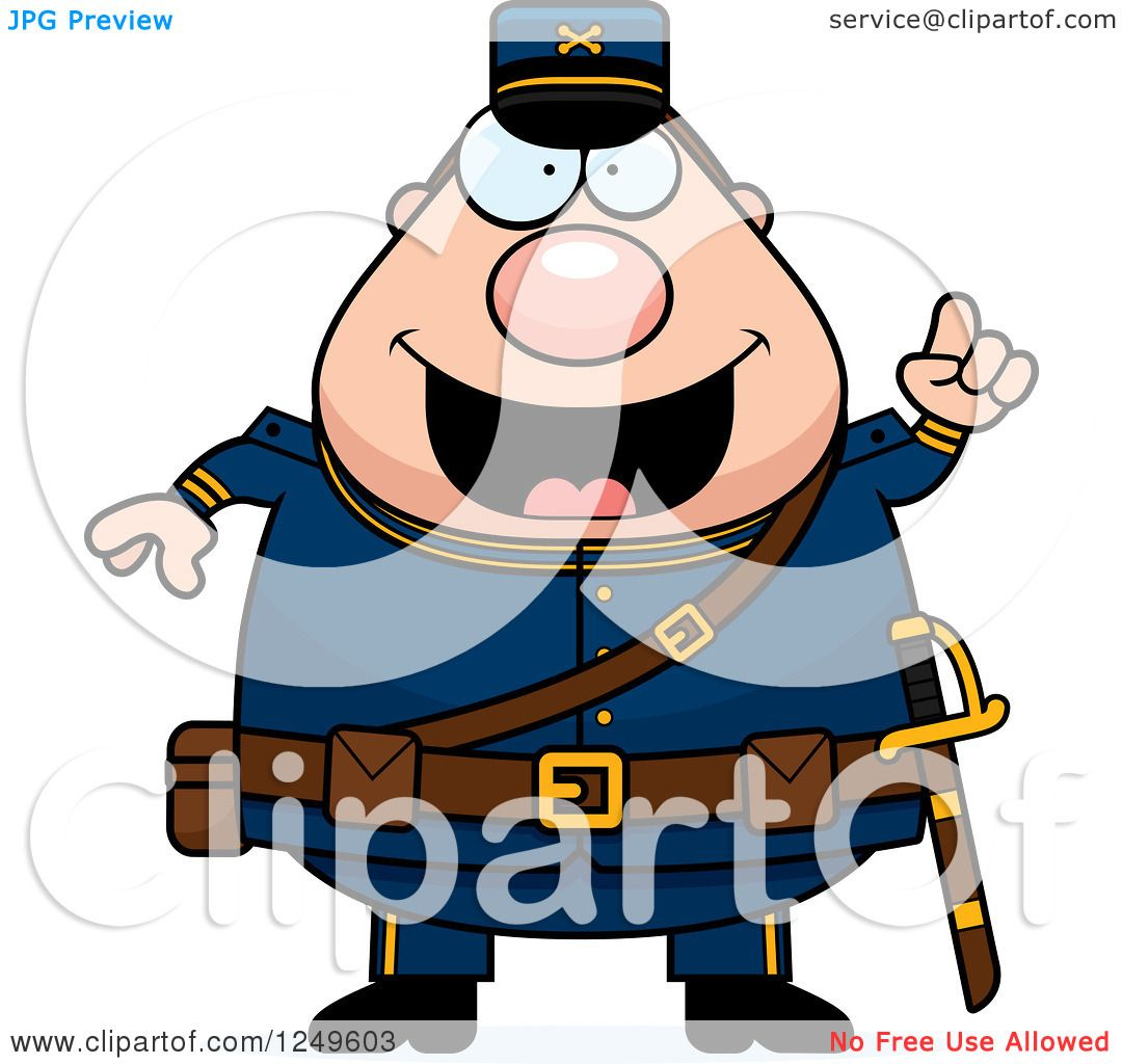 1080x1024 Clipart Of A Smart Chubby Civil War Union Soldier Man With An Idea