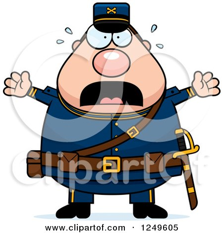 450x470 Clipart Of A Happy Chubby Civil War Union Soldier Man