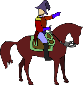 291x299 Historic Soldier On A Horse Clip Art