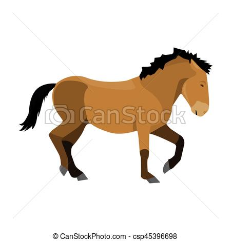 450x470 Mongolian Horse. Vehicle Ancient Mongolov In The Eps Vectors