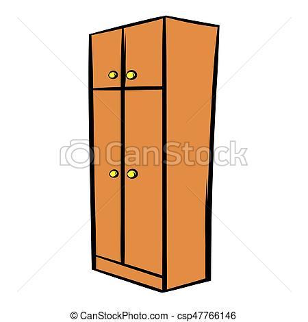 450x470 Brown Wardrobe Icon Cartoon. Brown Wardrobe Icon In Cartoon