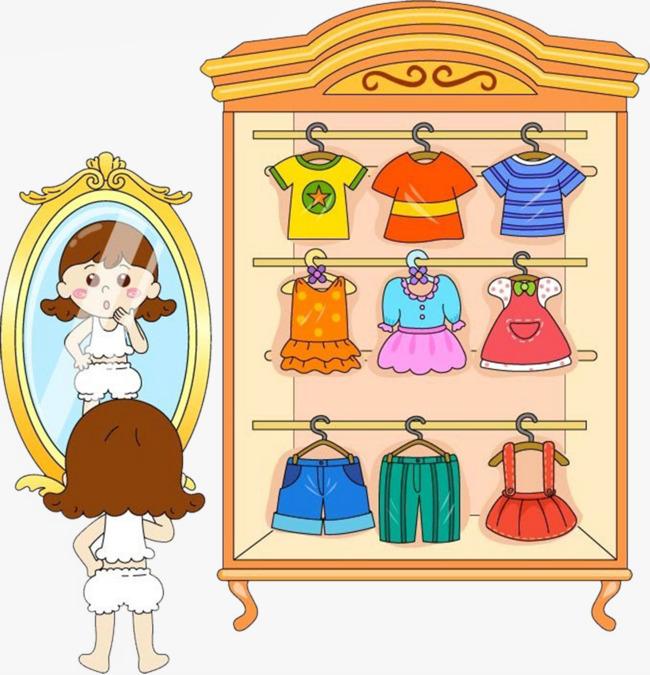 650x675 Cartoon Closet, Little Girl, Wardrobe, Skirt Png Image And Clipart