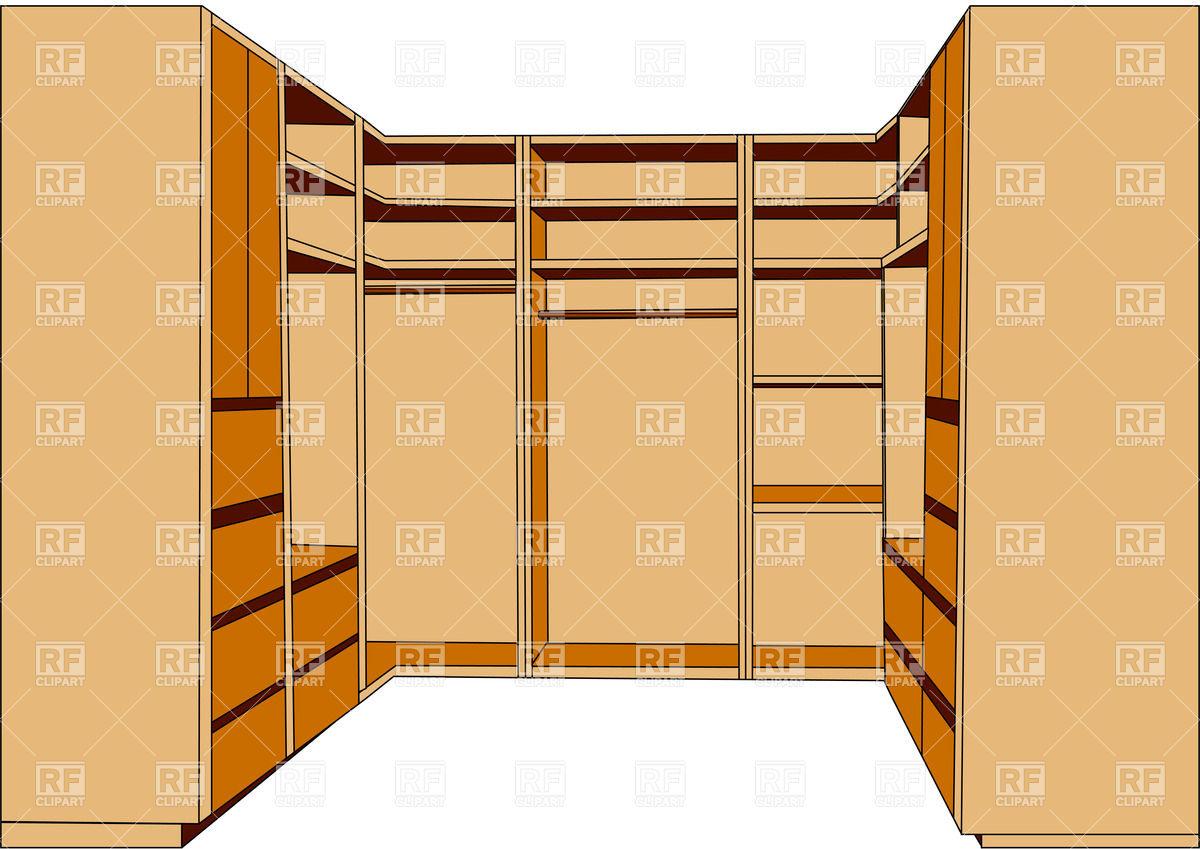 1200x849 Clothes Closet For Wardrobe Royalty Free Vector Clip Art Image