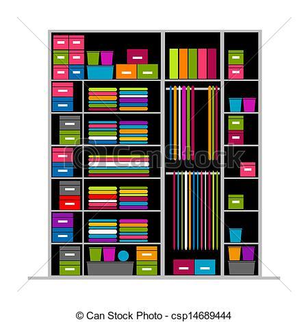 450x470 Wardrobe Inside, Illustration For Your Design Eps Vector