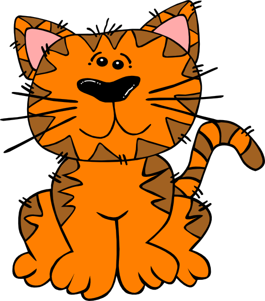 528x599 Cat Cliparts Detailed