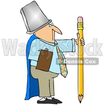 400x400 Royalty Free (Rf) Clipart Illustration Of A Businessman Warrior