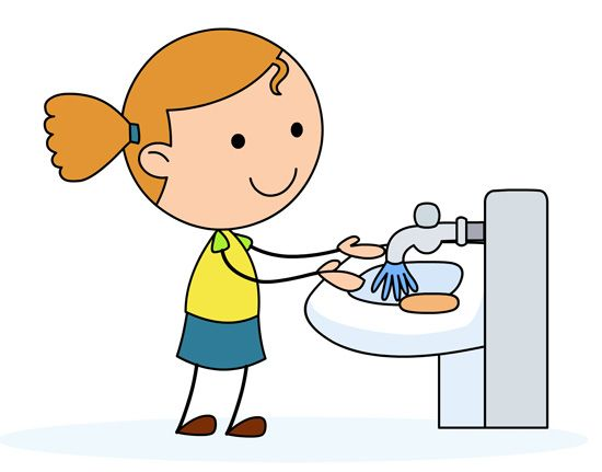 550x431 Girl Washing Hands Clipart Morning Routine Hand