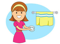 195x144 Stylish And Peaceful Washing Hands Clipart Search Results For Clip