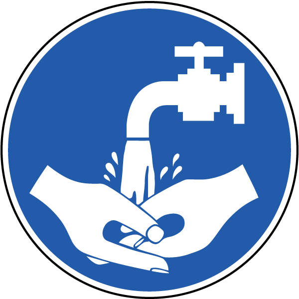 600x600 Washing Hands Symbol Clipart