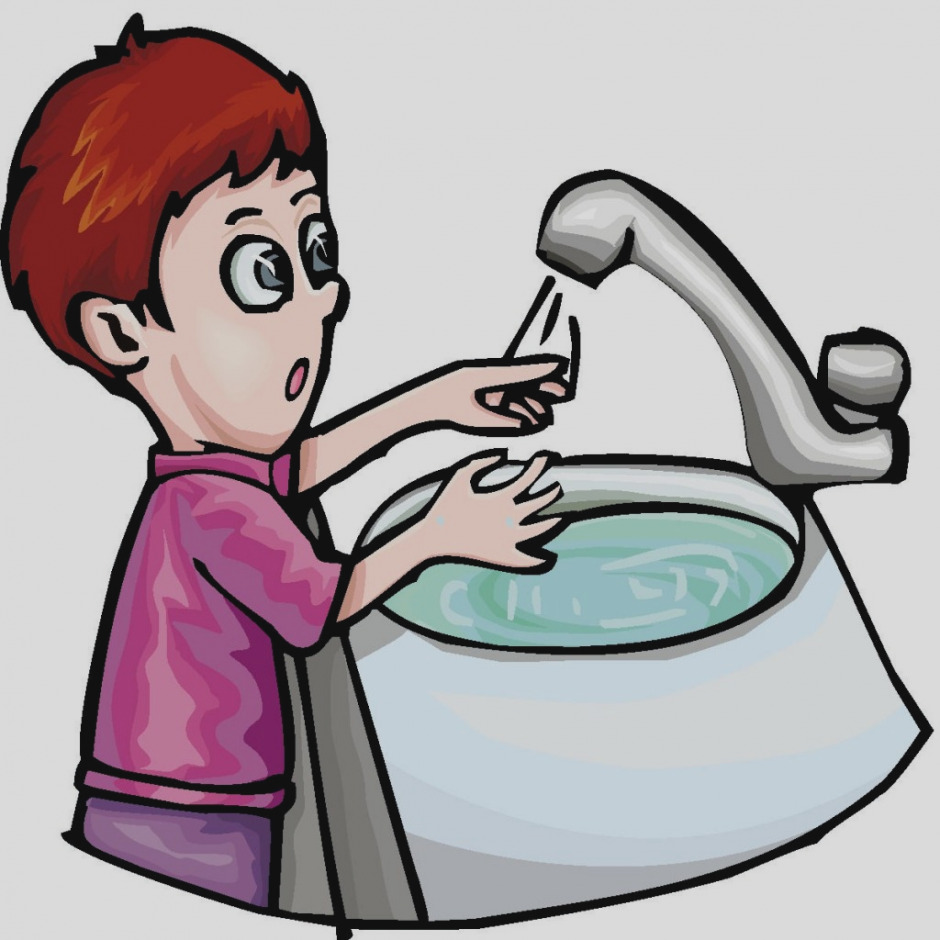 940x940 Boy Washing His Hands Clipart
