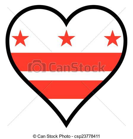 448x470 Love Washington Dc. Washington Dc Flag Within A Heart All