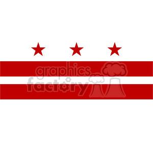 300x300 Royalty Free Vector State Flag Of Washington Dc 384621 Vector Clip