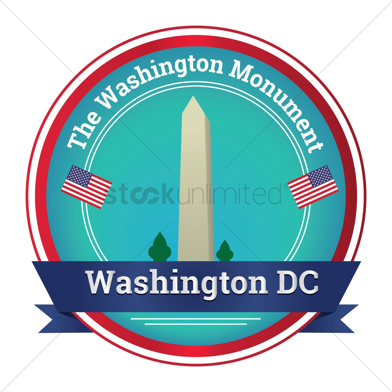 1300x1300 The Washington Monument Vector Image