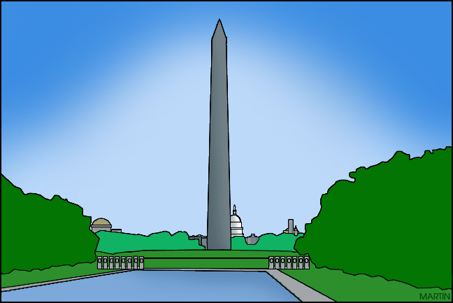 648x433 United States Clip Art By Phillip Martin, Famous Locations