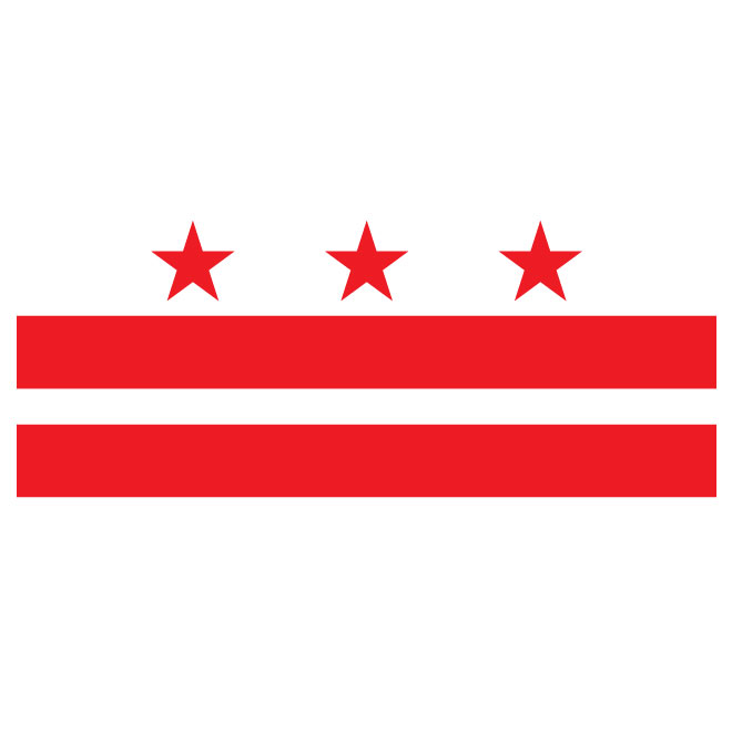 660x660 District Of Columbia Vector Flag