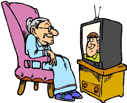 435x352 Family Watching Tv Clipart