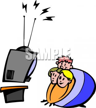 310x350 Kids Watching Tv Clipart Free Images