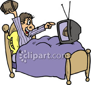 300x281 Watching Football Clip Art Cliparts