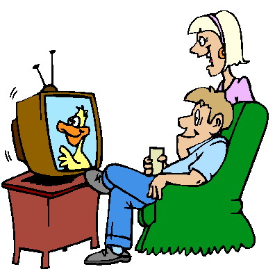 396x387 Watching Tv Clipart Tv Clipart