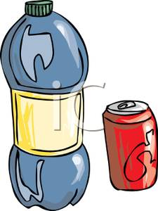 225x300 Clip Art Image A Can And Bottle Of Soda