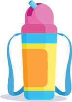 148x210 Collection Of Kids Water Bottle Clipart High Quality, Free