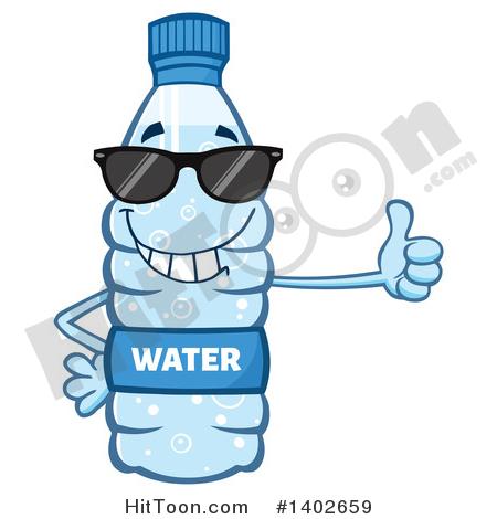 450x470 Water Bottle Mascot Clipart