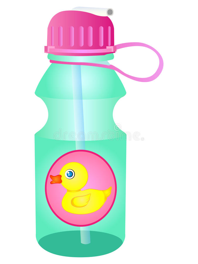 675x900 Water Bottle Clipart Vector Water Bottle Sipper Stock Vector