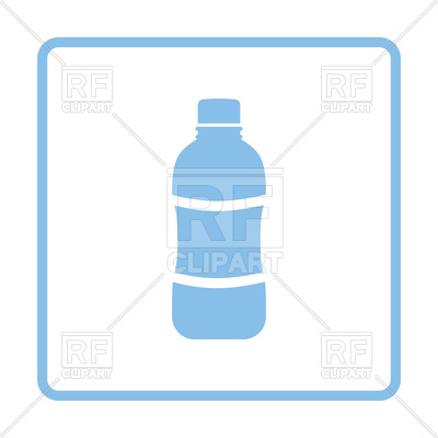 400x400 Blue Frame Design Of Water Bottle Icon Royalty Free Vector Clip