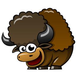 260x260 Free Download Water Buffalo Bison T Shirt Paper Cartoon