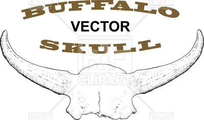 400x235 Old Skull Of Buffalo Horns Royalty Free Vector Clip Art Image