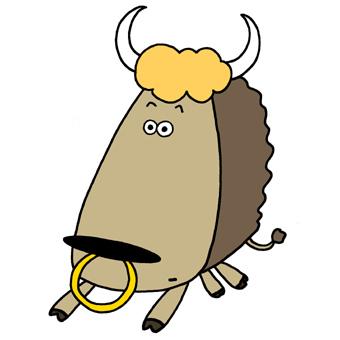 340x340 Water Buffalo Cartoon