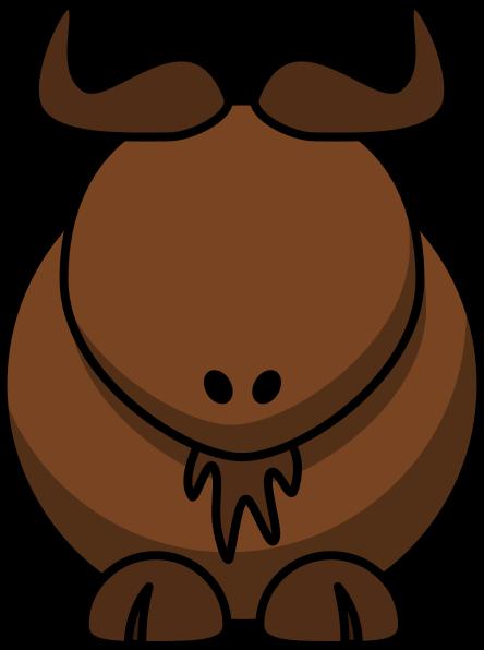 444x596 Water Buffalo With No Eyes Clip Art
