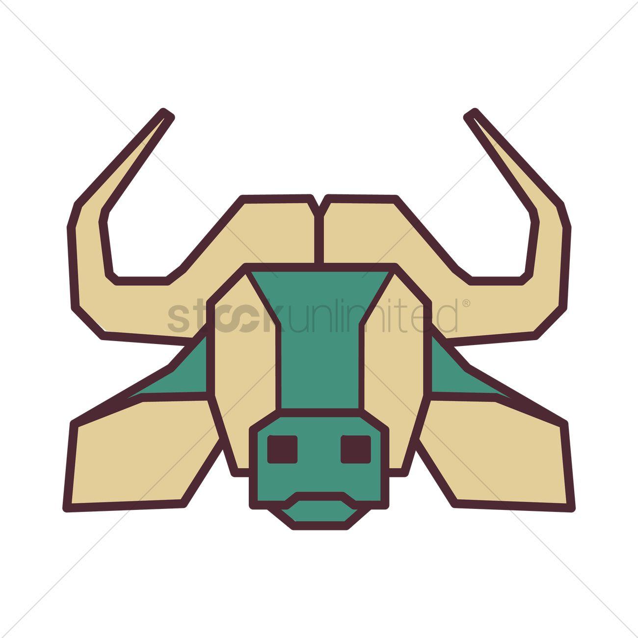 1300x1300 Water Buffalo Head Vector Image