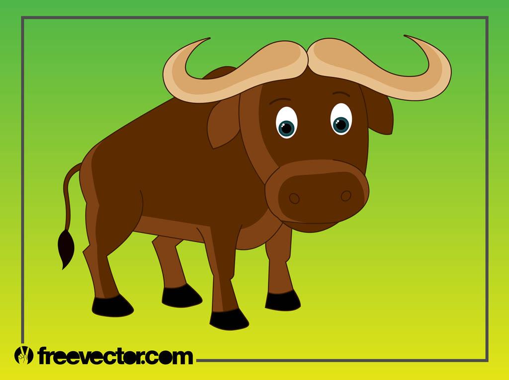 1024x765 African Buffalo Clipart Cartoon