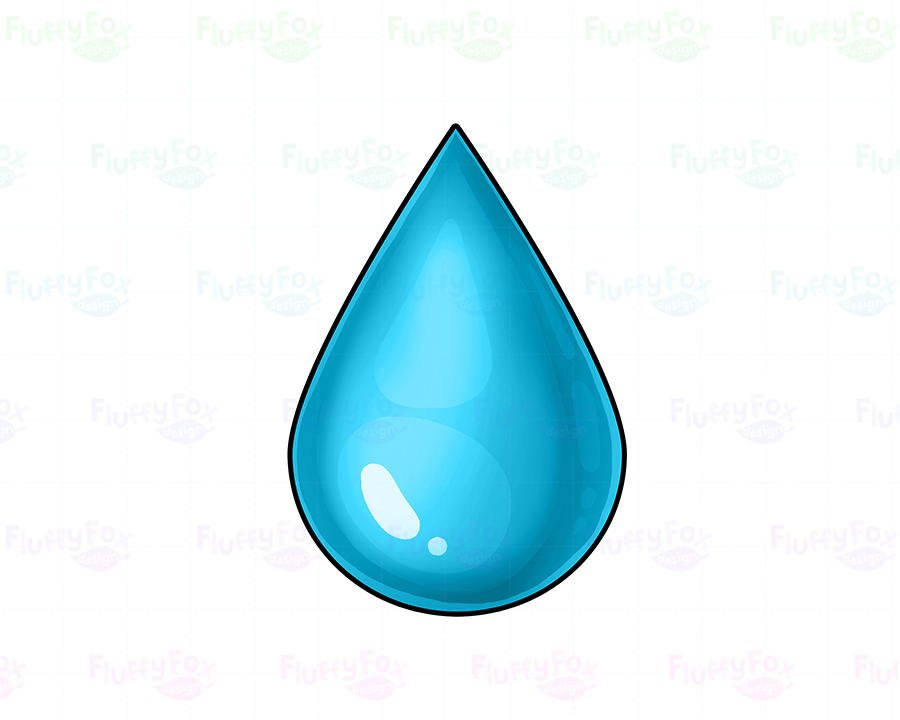 900x720 Water Drop Clipart, Water Droplet Clipart, Cute Rain Drop Colorful