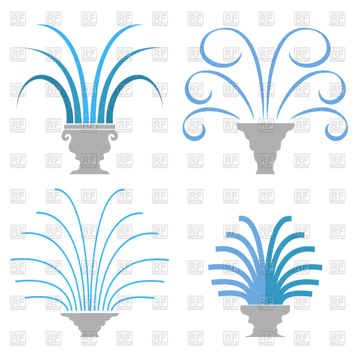 1200x1200 Fountain Icon Royalty Free Vector Clip Art Image